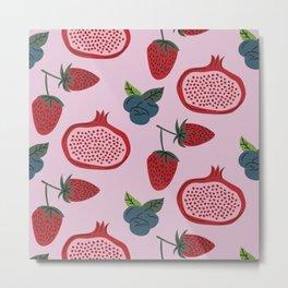 Pomegranate Pattern Metal Print