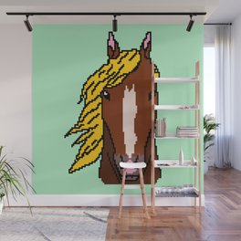 Horse with yellow hair Wall Mural