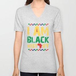 I'm Black History, Black Lives Matter, African American Pride Unisex V-Neck