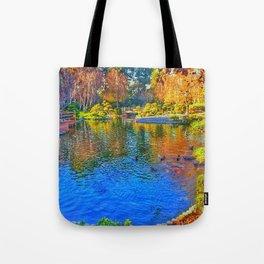 Painted Pond Tote Bag