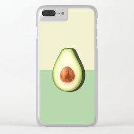 Avocado Half Slice, Tropical Fruit Clear iPhone Case