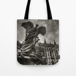 Angel with a sword Tote Bag