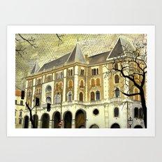 Grey day (Budapest) Art Print