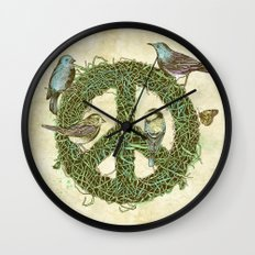Peace Talks Wall Clock