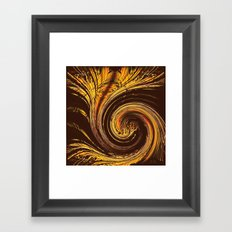 Golden Filigree Germination Framed Art Print