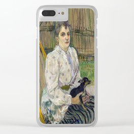 Lady With A Dog Clear iPhone Case