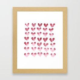 polka hearts Framed Art Print