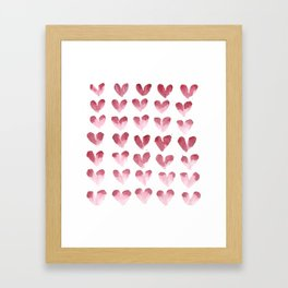 polka hearts Framed Art Print
