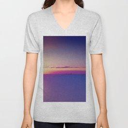 #Sunset on the #Atlantic #Ocean pastel #colors Unisex V-Neck