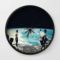 lsd Wall Clocks featuring LSD SPACE  by Maioriz Home