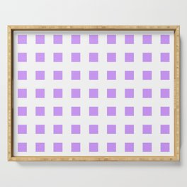 square and tartan 46- purple Serving Tray