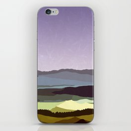 Sunset over the Valley iPhone Skin