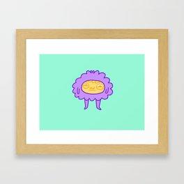 Fluff Bod Framed Art Print