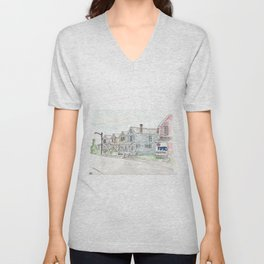 University of Dayton Student Neighborhood, Ghetto, UD Unisex V-Neck