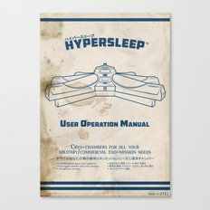 Hypersleep Chamber User Manual Canvas Print