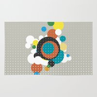 bubbles Area & Throw Rugs featuring bubbles by Heinz Aimer