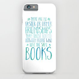 Bookish Friendship - Blue iPhone Case