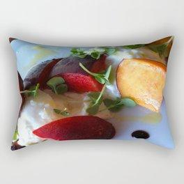 Burrata and Peaches Rectangular Pillow