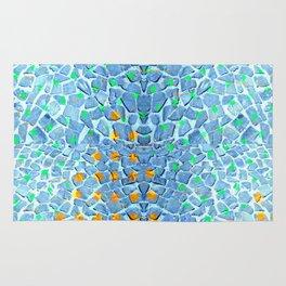 Street Floor Tiles Feeling Turquoise Tiger-Polka Dot...ish! Rug