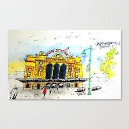 Urban Sketch Union Station Canvas Print