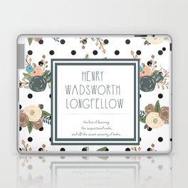 Longfellow quote Laptop & iPad Skin