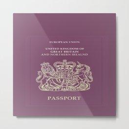 UK Passport  Metal Print