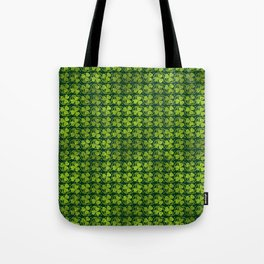 Irish Shamrock -Clover Green Glitter pattern Tote Bag