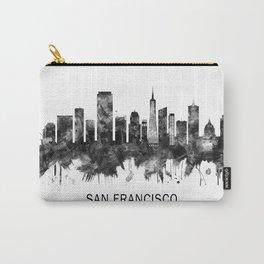 San Francisco California Skyline BW Carry-All Pouch