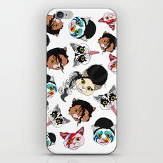 Pop Cats - Pattern on White iPhone & iPod Skin