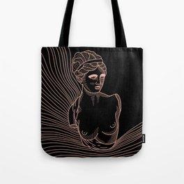 waves of Venus in pink Tote Bag