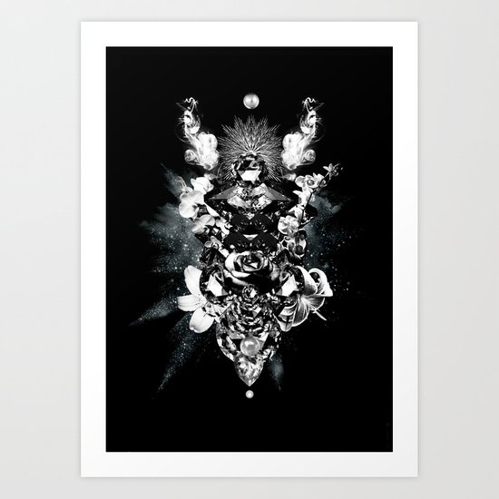 Orchids & Diamonds Art Print