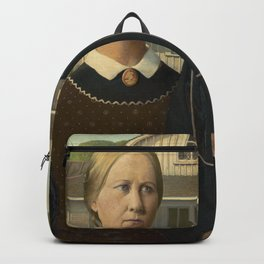 American Gothic, Classic Art Painting, Grant Wood Backpack