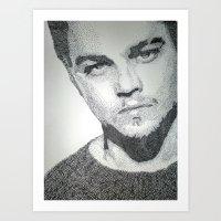 leonardo dicaprio Art Prints featuring Leonardo DiCaprio  by Mariam AlJarah