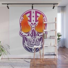 Fire Skull Wall Mural