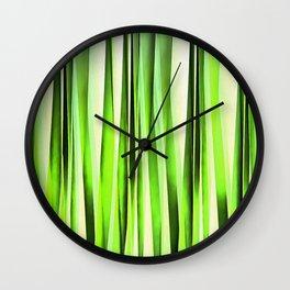 Eternal Evergreen Stripy Pattern Wall Clock