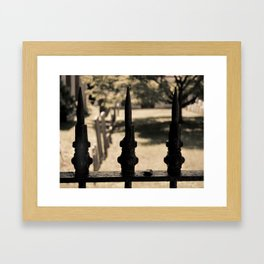 Iron Fence Sepia Framed Art Print