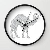 camel Wall Clocks featuring Camel by Emmy