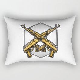 Assault Rifle Vector Rectangular Pillow