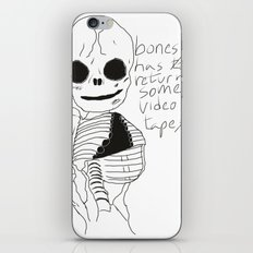 bonesy has to return some video tapes iPhone & iPod Skin