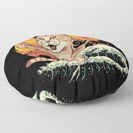 Neko Sushi Wave Floor Pillow