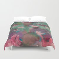 tie dye Duvet Covers featuring Pink Tie-dye by Marcelo Romero