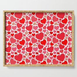 Red Hearts Pattern 2 Serving Tray