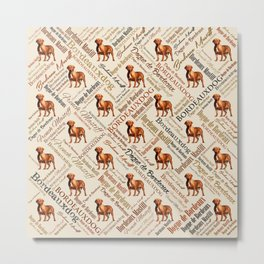 Dogue de Bordeaux Word Art Metal Print