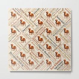 Dogue de Bordeaux Word Art Metal Print