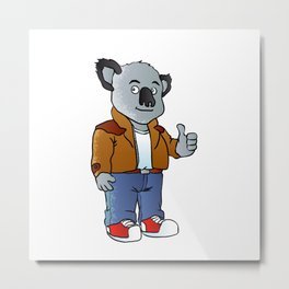 funny koala cartoon Metal Print