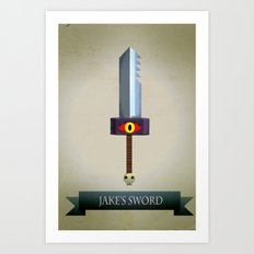 Jake's Sword Art Print
