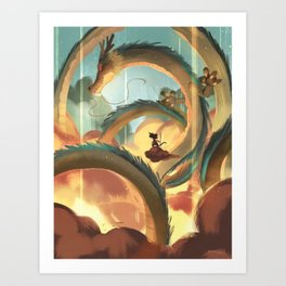 Dragon Ball Art Print