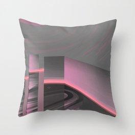 Claraboya, Geodesic Habitacle, Pink neon room Throw Pillow