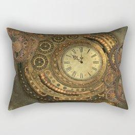 Awesome steampunk design, clockwork Rectangular Pillow