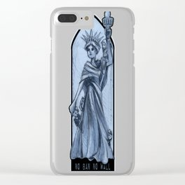 No Ban, No Wall: All my Children Clear iPhone Case